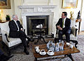Defense.gov News Photo 100607-F-6655M-020 - Secretary of Defense Robert M. Gates meets with British Prime Minister David Cameron at his residence at 10 Downing Street in London United.jpg