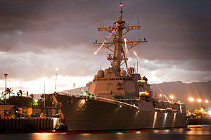 Defense.gov News Photo 111221-N-WP746-007 - The guided-missile destroyer USS Chung-Hoon DDG 93 is decorated with Christmas lights at Joint Base Pearl Harbor-Hickam on Dec. 21, 2011.jpg