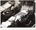 Defense Counsel in the Medical Case Listen as the Prosecution Enters Evidence Charging that the Defendants Had Committed War Crimes.jpg