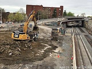 Gilman Square station Under-construction light rail station in Somerville, Massachusetts
