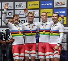 Denmark men's team pursuit (2020-02-27) - UCI Track World Championships 2020.jpg