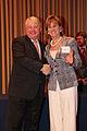 Dennis Scholl, vp-arts, Knight Foundation with Knight Arts Challenge winner Catherine Cahill, President, The Mann Center for Performing Arts - Flickr - Knight Foundation.jpg
