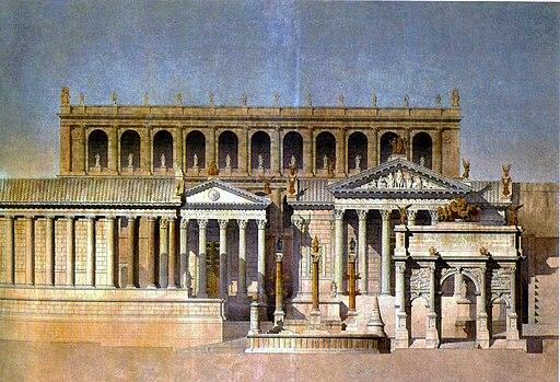 Depiction of the Forum Romanum (1866)