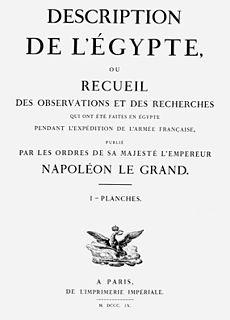 <i>Description de lÉgypte</i> 19th century book series