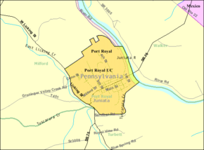 Detailed map of Port Royal, Pennsylvania.png