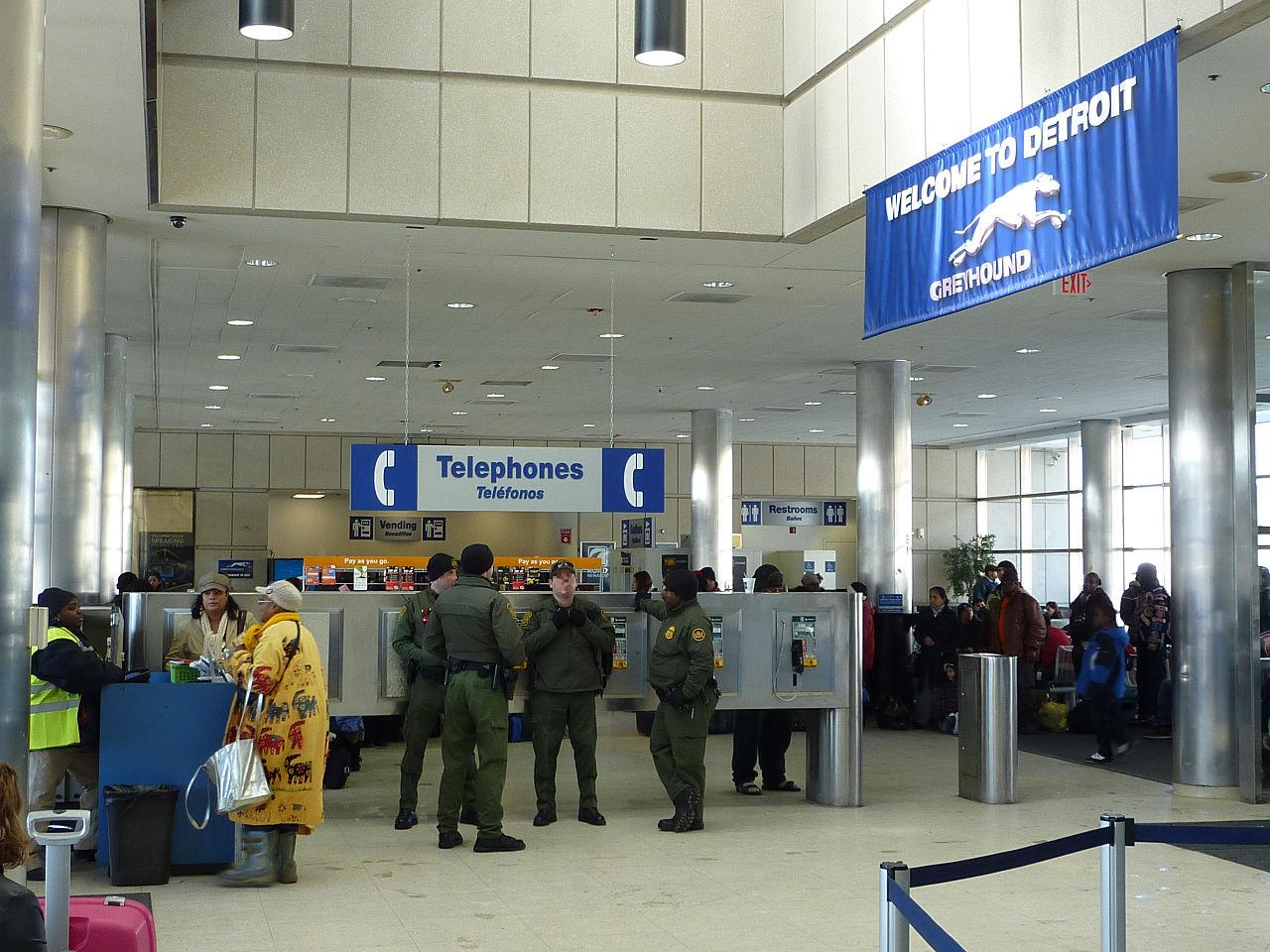 Us Border Patrol Pay Chart: Detroit - Inside Greyhound Bus Station - P1080197.JPG ,Chart