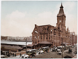 Chicago and North Western Transportation Company - Chicago and North Western's Wells Street Station, ca. 1900