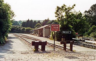 Devil's Bridge railway station - Devil's Bridge station, showing the two platforms in use.