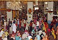 Devotees celebrating 'Guru Purab' on the occasion of 537th birth anniversary of Guru Nanak Devji at Gurdwara Bangla Saheb, in New Delhi on November 05, 2006.jpg