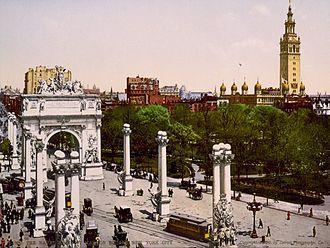 Dewey Arch - Image: Dewey Arch 1900 Color
