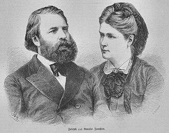 Amalie Joachim - Joseph und Amalie Joachim, by Adolf Neumann, in: Die Gartenlaube, 1873