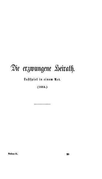 File:Die erzwungene Heirath-Molière-Baudissin-1866.djvu