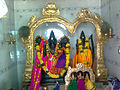 Dieties of Lord Rama, Seeta and Lakshmana at Pogallapalli Temple.jpg