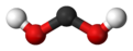 Ball and stick model of dihydroxymethylidene