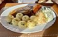 Dishes at Zajazd Harnaś, Nowy Korczyn, Poland, 2019, 01.jpg