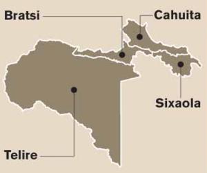 Talamanca (canton) - Districts of Talamanca canton