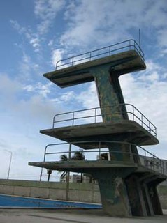 Diving platform A type of structure used for competitive acrobatic diving