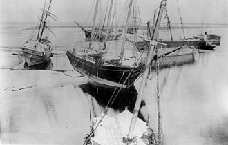 Dog Island (Florida) - Photo of Dog Island hurricane shipwrecks, 1899
