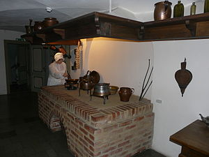 Cookware and bakeware - Kitchen in the Uphagen's House in Long Market, Gdańsk, Poland
