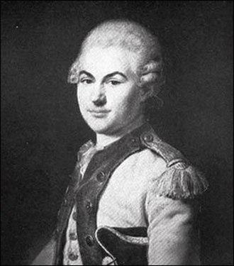 Donatien-Marie-Joseph de Vimeur, vicomte de Rochambeau - Donatien-Marie-Joseph de Rochambeau in the uniform of the Régiment d'Auvergne