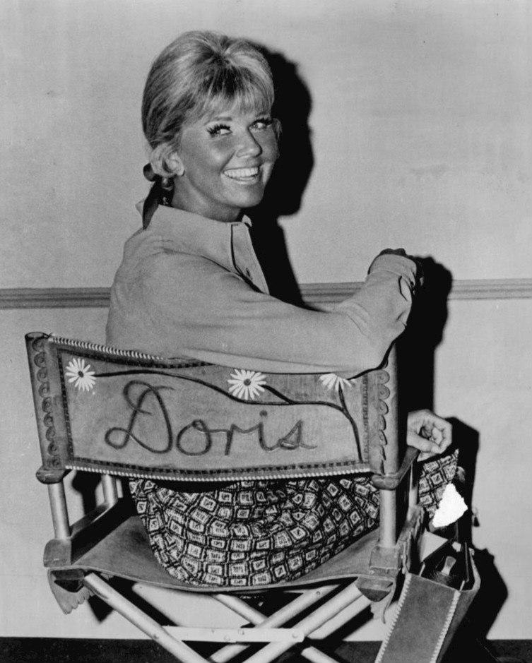 Doris Day on television show set