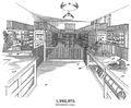 Drawing of a self-service store, U.S. Patent 1,242,872.png