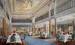 Drawing of the First Class Dining Saloon on the RMS Aquitania.jpg