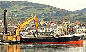 Dredging at Warrenpoint harbour. The ...
