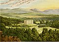 Drumlanrig Castle, from, A series of picturesque views of seats of the noblemen and gentlemen of Great Britain and Ireland (1840).jpg