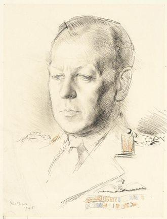 Dudley Clarke - Dudley Clarke, by war artist Patrick Phillips (1945)