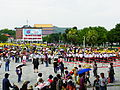 Dun-Hua Junior High School Marching Band Ready to Parade in Taipei International Flora Expo Closeing 20110425b.JPG