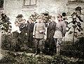 Dziedzice, wrzesień 1919 roku, Komitet Opieki nad Powstańcami. Od prawej Stanisław Krzyżowski (inicjator I Powstania Śląskiego) i Maria Stryczek (jego narzeczona). In color.jpg