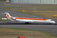 EC-LOJ CRJ.1000 Iberia Express(Air Nostrum) TLS 24SEP13 (9923433266).jpg