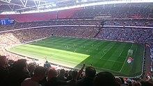 Вид на стадион Уэмбли во время финала EFL Trophy 2017