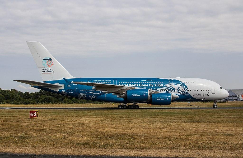 l'A380 de HiFly qui sera utilisé par Air Austral