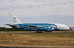 Airbus A380 der Hi Fly Malta