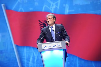 President of Albania - Sali Berisha, founder of the Democratic Party of Albania.