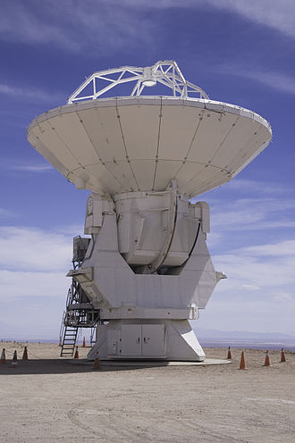Mitsubishi Electric - An antenna manufactured by Mitsubishi Electric for the Atacama Large Millimeter Array.