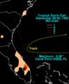 Earl 1992 rainfall.png