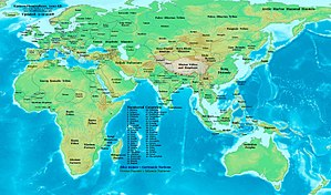 12th century - Eastern Hemisphere at the beginning of the 12th century.