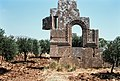 East Church, Me'ez (ماعز), Syria - Remains of south façade of Church - PHBZ024 2016 5440 - Dumbarton Oaks.jpg