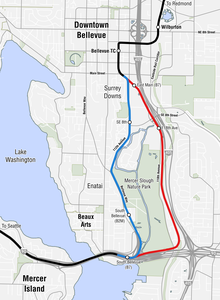 Link Rail Seattle Map.East Link Extension Wikipedia