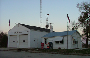 East Lynn, Illinois - Post office and fire department buildings