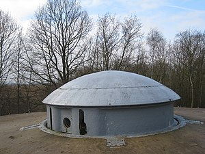 Battle of Fort Eben-Emael - A retractable gun turret at Fort Eben-Emael