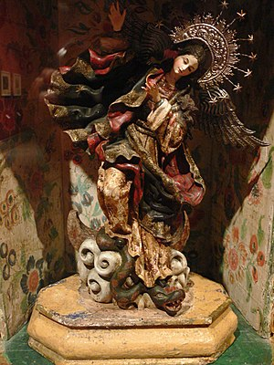 Virgin of Quito - A replica Virgin of Quito in a Berlin museum.