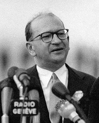Edgar Faure - Edgar Faure at the Geneva Summit (1955)