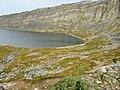 Edge of a lake Lille Malene hike near Nuuk Greenland.jpg