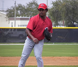 Edinson Vólquez - Vólquez with the Cincinnati Reds in 2008 spring training