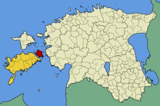 Muhu Estonian island in the Baltic Sea