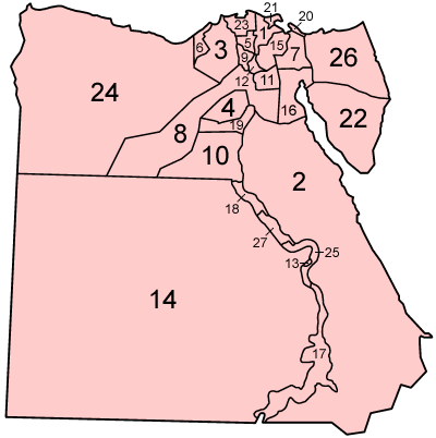 Egypt governorates alphabetical